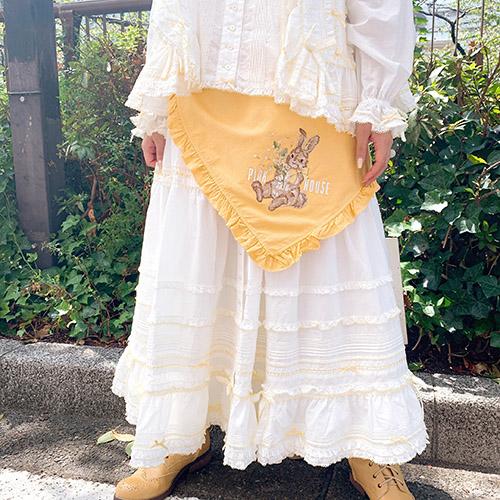 リボンいっぱいローンスカート