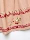 雛菊とさくらんぼ刺繍入りデニムスカート