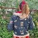 ★#OLDPINKHOUSE★ネームワッペン使いカラーデニムブルゾン