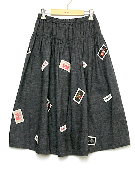 ネームワッペンいっぱいスカート
