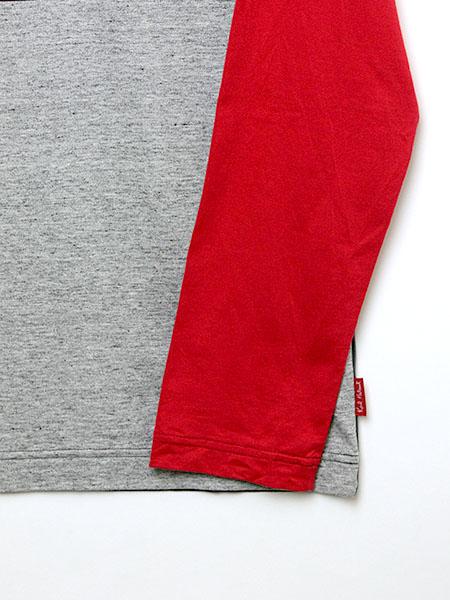 ロゴ&ネーム配色長袖カットソー