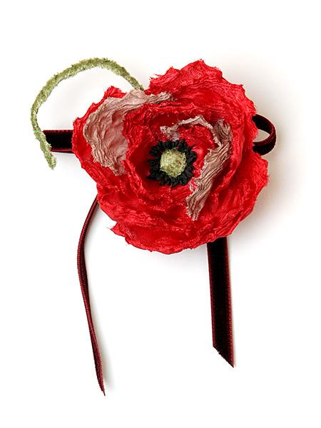 オフィーリアの花飾りコサージュ