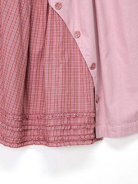 オリジナルチェック×デニムスカート