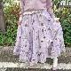 染花とリボンのまどいプリントスカート