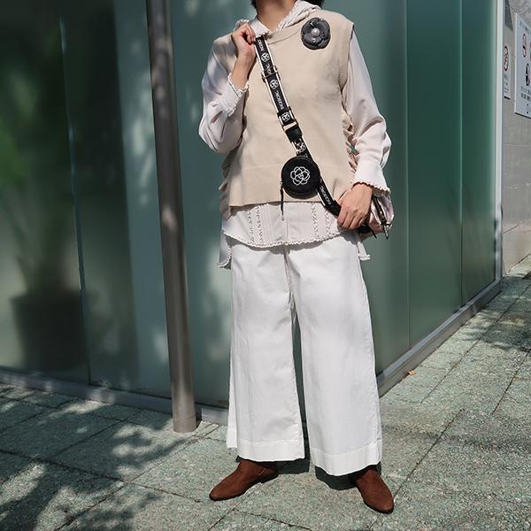 【EC先行販売】ストレッチデニムワイドパンツ