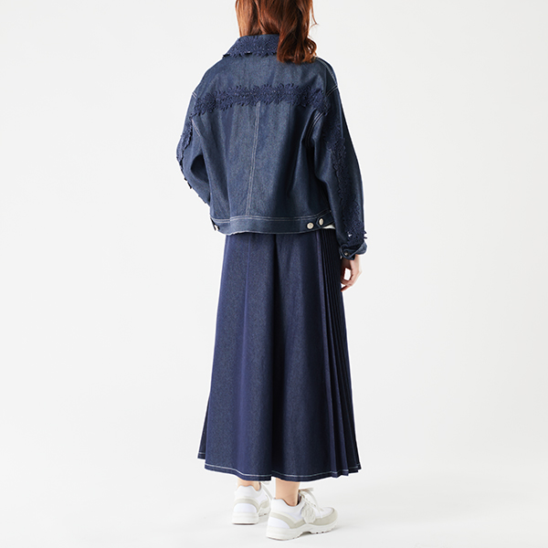 【EC先行販売】レースアクセントデニムジャケット
