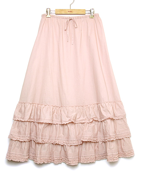 裾フリルローンスカート