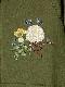 オフィーリアの花飾り刺繍入りパーカー