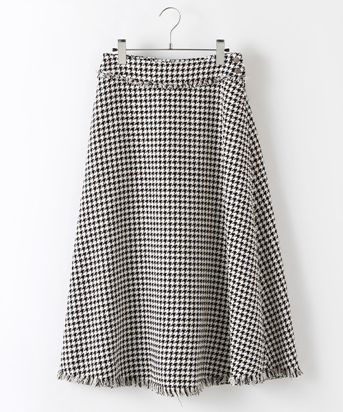 リングツイードセミフレアースカート
