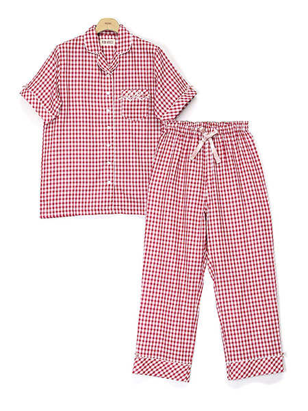 PINK HOUSE×MISAKO&ERINKOギンガムチェックパジャマ