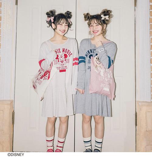 ★オンライン先行販売★ミニー/カレッジ風チュニック