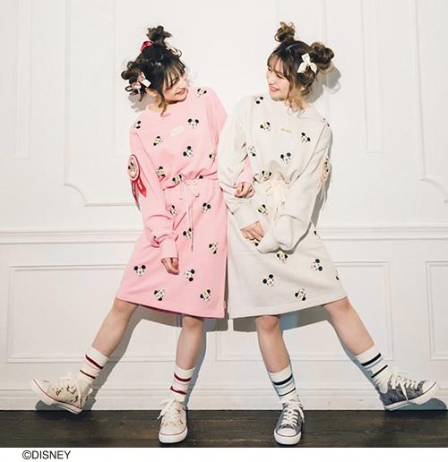 ★オンライン先行販売★ミッキー&ミニー/プリントスウェットスカート