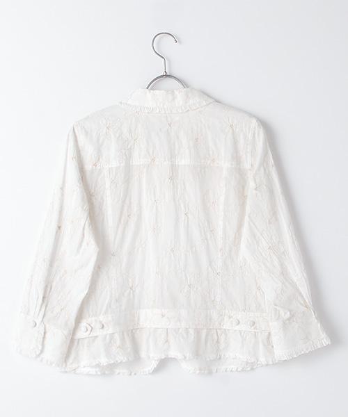 【EC先行販売】Cローンフラワー刺繍ブラウスジャケット
