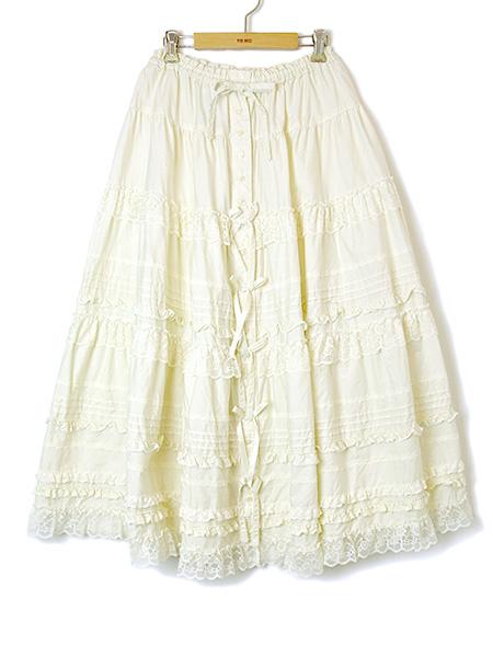 フリルレース使いスカート