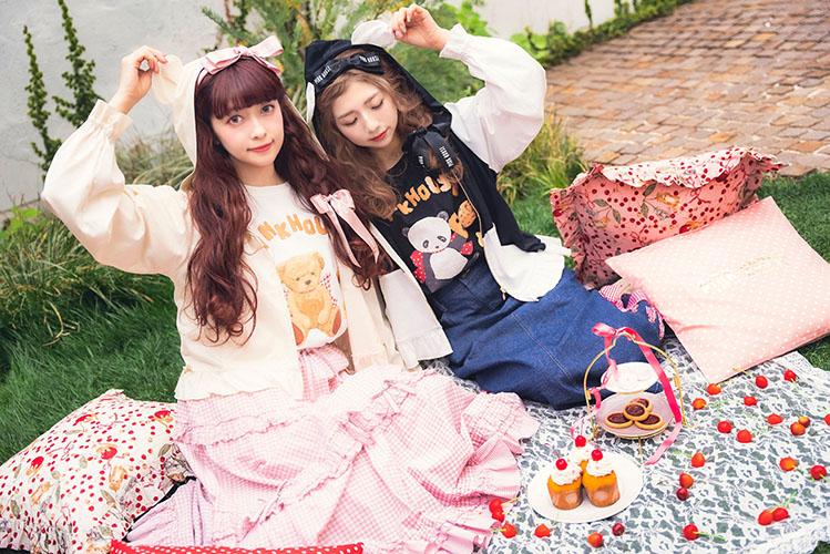 PINK HOUSE×MISAKO&ERINKO耳付きフードパーカー