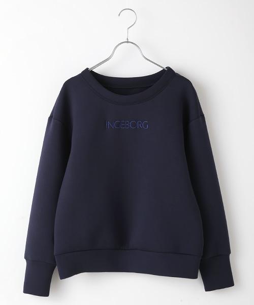 ロゴ刺繍入カジュアルプルオーバー