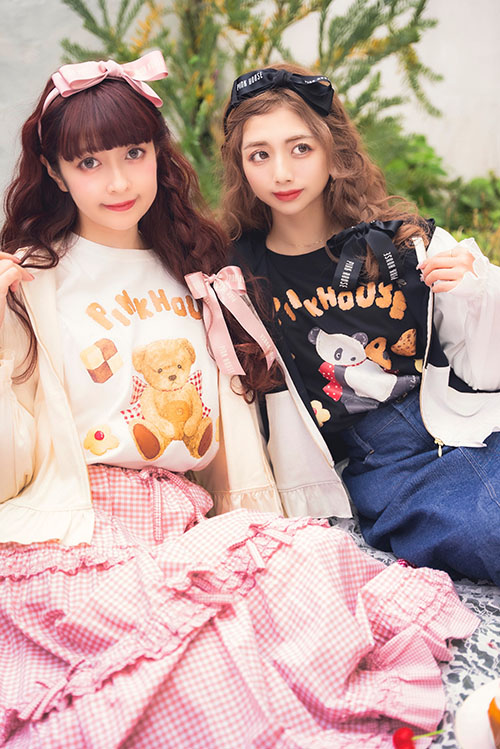 PINK HOUSE×MISAKO&ERINKOプリントビックTシャツ