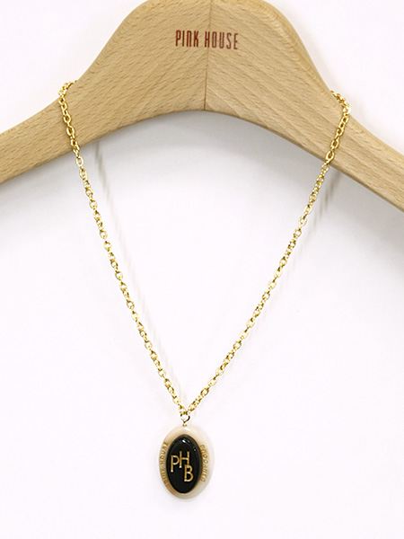 【OUTLET】<60%off> BROCANTE イニシャルロゴ アクリルパーツネックレス