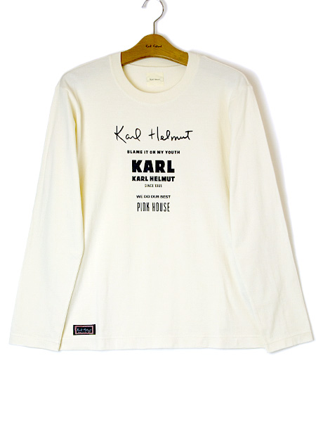 ロゴプリント長袖Tシャツ