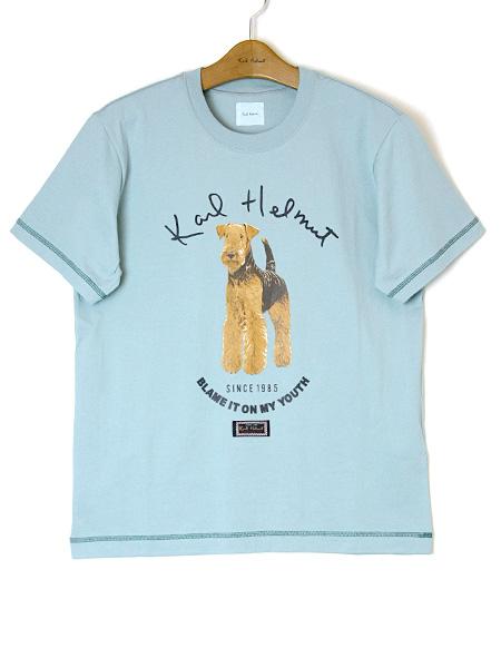 エアデールテリアプリントTシャツ