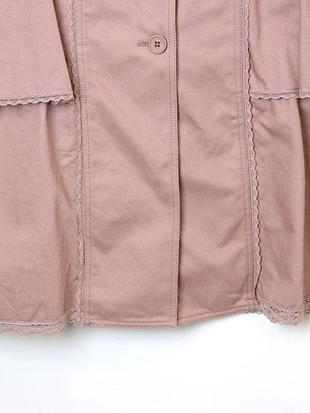 フリル使いスプリングコート
