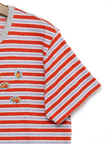 *クマノミワッペン付きボーダーTシャツ