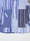 ネームワッペン使いパッチワークシャツブラウス
