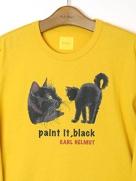 Black catsプリントカットソー