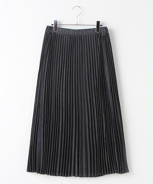 インディゴプリーツスカート