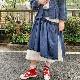 レイヤード風スーピマライトツイルスカート