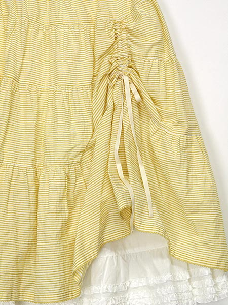 シャーリングボーダースカート