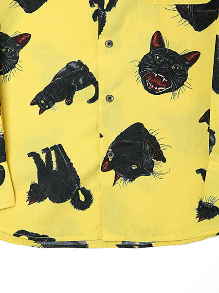 【OUTLET】<60%off>Black catsプリントシャツブラウス