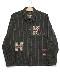 スコッチテリア刺繍ブラッシュドコットンツイードジャケット