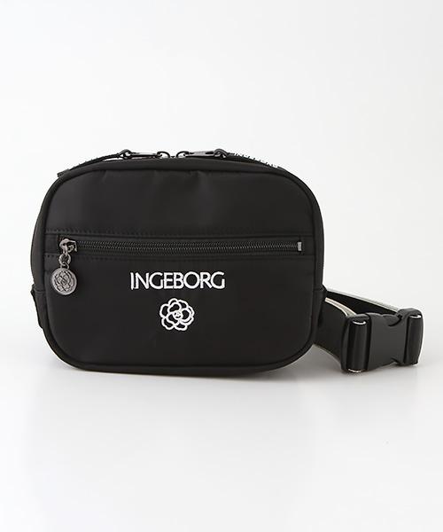 ロゴ&カメリアテープコンパクトボディバッグ