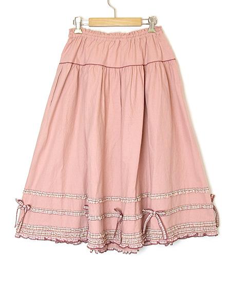 カーネーション刺繍スカート