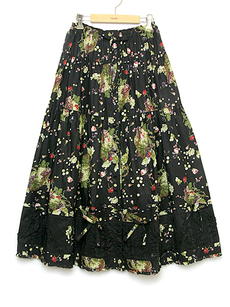 **ハーベストドロッププリントスカート