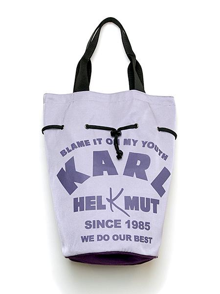 KARLロゴ入り巾着風バッグ