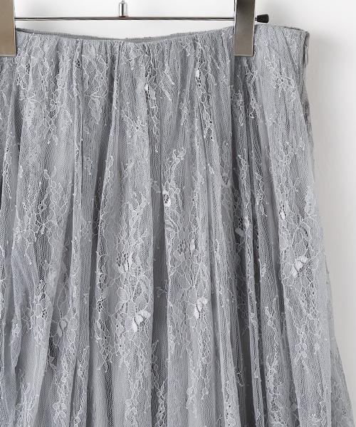 スカラップヘム総レーススカート