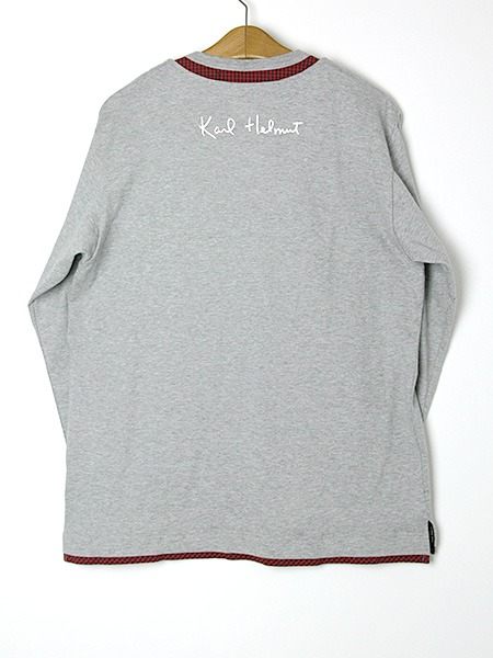 【OUTLET】<50%off> チェック使いレイヤード風カットソー