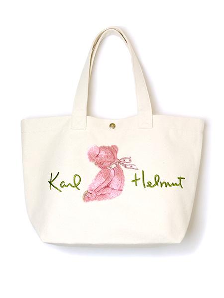 *桜テディ刺繍入りバッグ