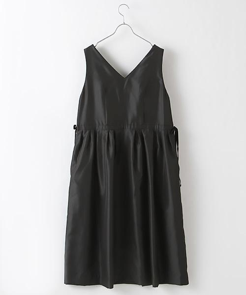 【OUTLET】<60%off>Vネックベルベットアクセントジャンパースカート
