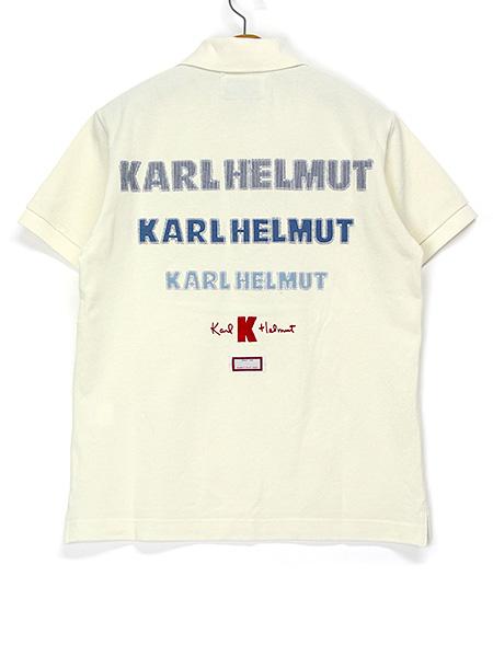 カールヘルムロゴアップリケポロシャツ