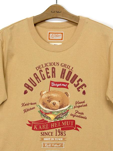 ハンバーガーKARLくんプリントTシャツ