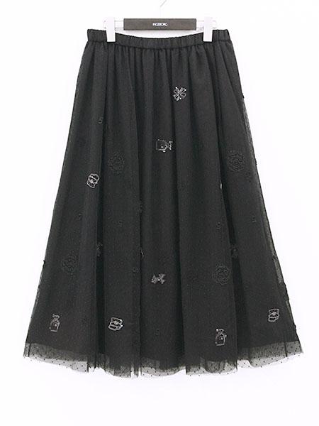 【OUTLET】<60%off> 刺繍レースロングスカート