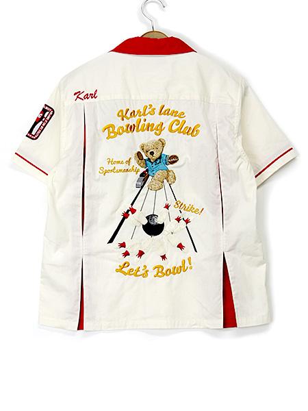 *カールスレーン刺繍ボーリングシャツ