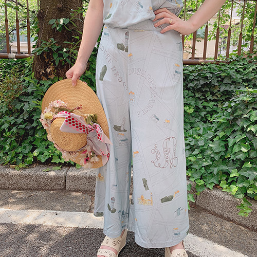 【OUTLET】<50%off> MAPプリントワイドパンツ