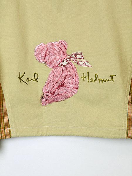 桜テディ刺繍入りフーディブラウス