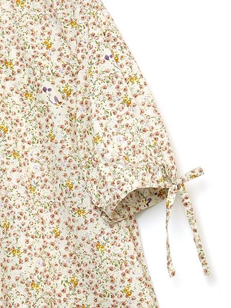 花迷子のハチドリプリントチュニックブラウス