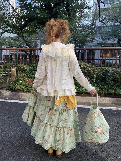 ミミ・モザ・ラビットプリントバッグ