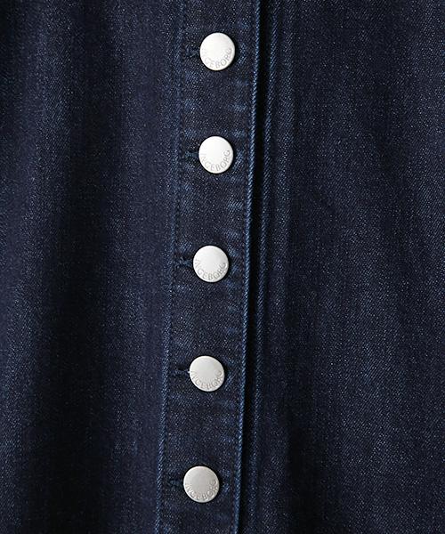 ストレッチデニムAラインスカート